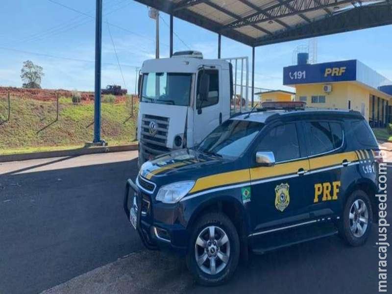 Caminhão furtado em Minas é recuperado no MS