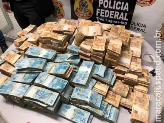 Fortuna apreendida no quarto de investigado soma R$ 2,4 milhões, corrige PF
