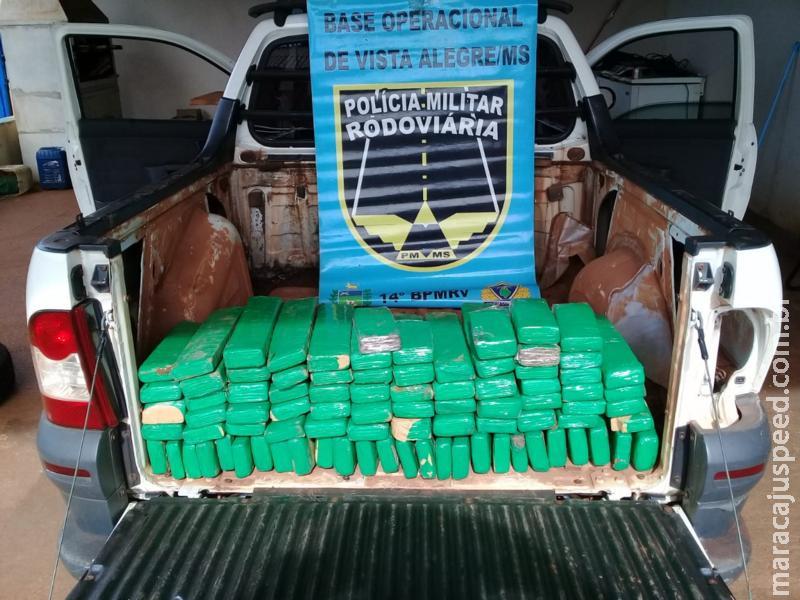Maracaju: PMRv recupera veículo roubado e apreende drogas na MS-164