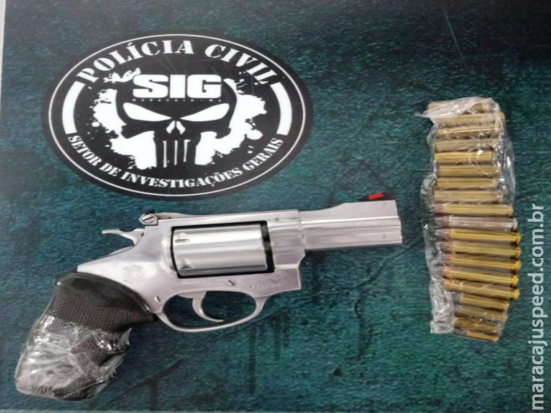 Maracaju: Polícia Civil prendeu autor de ameaças com arma de fogo em estabelecimento comercial