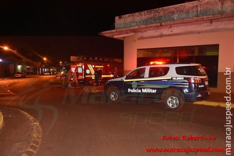 Maracaju: Polícia Militar e Corpo de Bombeiros atendem ocorrência de queda de motociclista no Centro