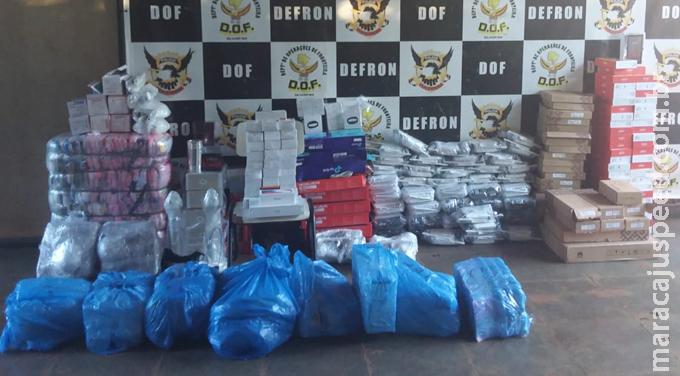 Maracaju: Veículo carregado com produtos adquiridos no Paraguai sem a documentação fiscal necessária foi apreendido pelo DOF