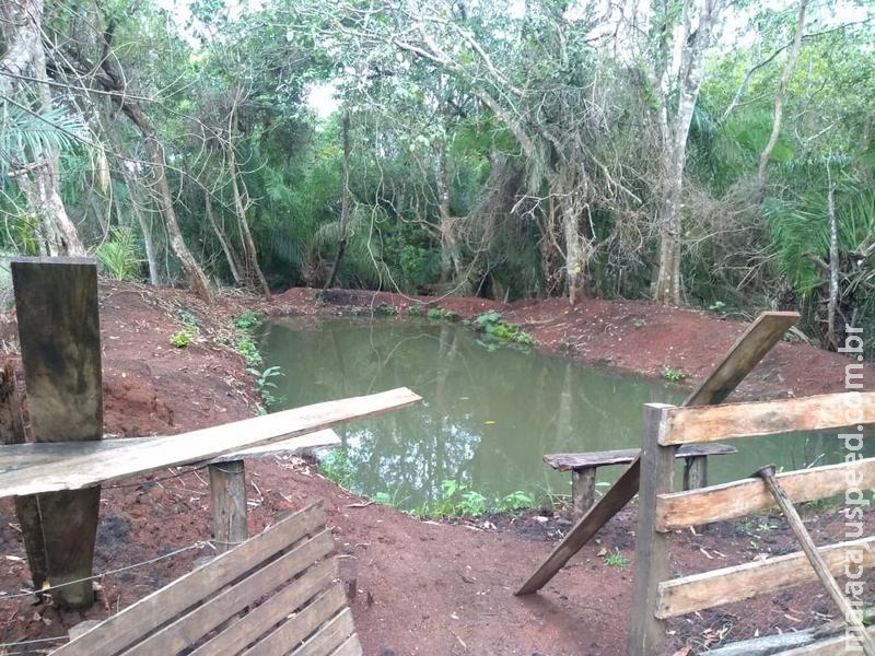 Polícia Militar Ambiental de Miranda autua assentada em R$ 5 mil por degradação de matas ciliares de córrego para construção de tanque de piscicultura