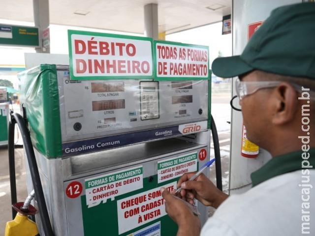 Preço do litro da gasolina beira os R$ 5 em postos do interior de MS