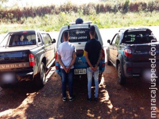 Tio e sobrinho são presos com veículos roubados na MS-395