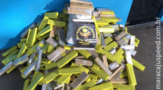 Veículo conduzido por adolescente e carregado com quase 400 quilos de droga foi apreendido pelo DOF em Amambai