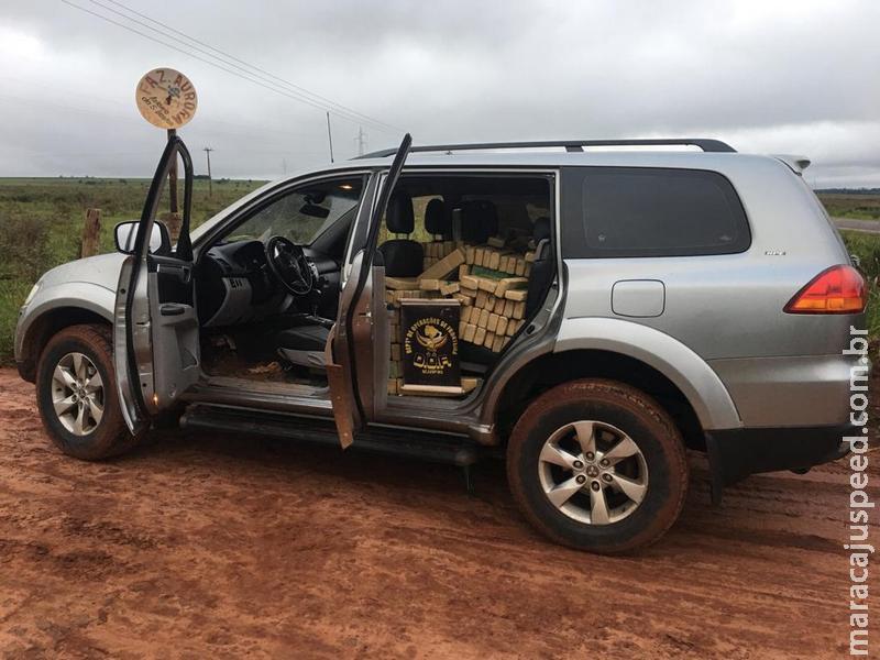 Veículo furtado em Brasília foi apreendido pelo DOF com mais de uma tonelada de droga na região de Amambai