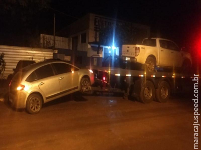 Veículos com ocorrências de Furto em Goiânia e Roubo em Campo Grande foram recuperados pelo DOF na região de Maracaju