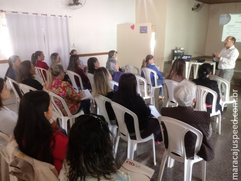 Maracaju: Dentistas e auxiliares de Saúde Bucal participaram de palestra