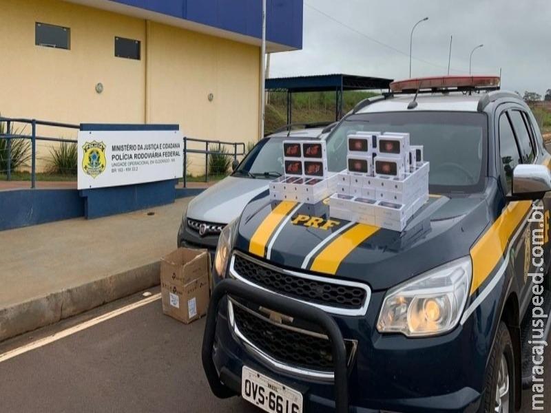 Polícia apreende em MS carga de celulares avaliados em R$ 160 mil