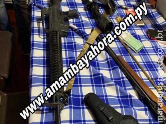 Polícia apreende escopeta e réplicas de fuzis em propriedades do PCC