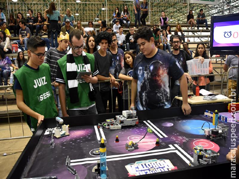 Escolas do Sesi da Capital e Maracaju levam torneio de robótica ao Shopping Norte Sul Plaza