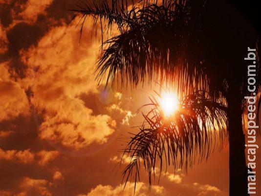 Fim de semana terá clima quente e seco com temperaturas de 34°C em MS