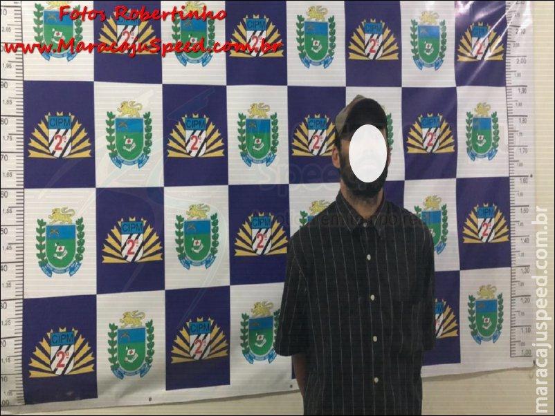 """Maracaju: Homem é preso em flagrante pela Polícia Militar pelo crime de """"Furto na Forma Tentada"""""""