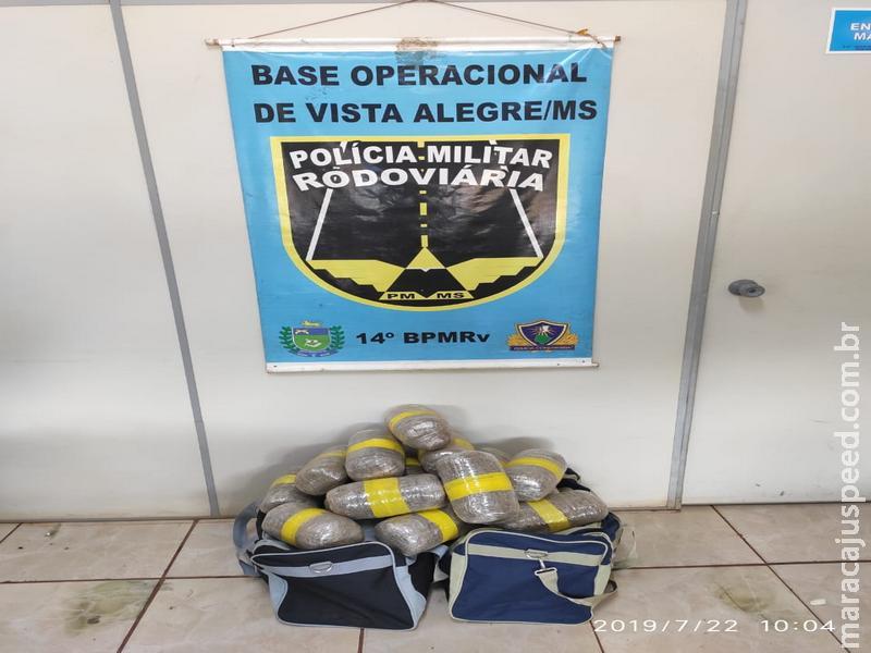 Maracaju: Polícia Militar prende casal de goianos com 15kg Skank
