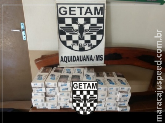 Militares apreendem 45 pacotes de cigarros contrabandeados em Anastácio