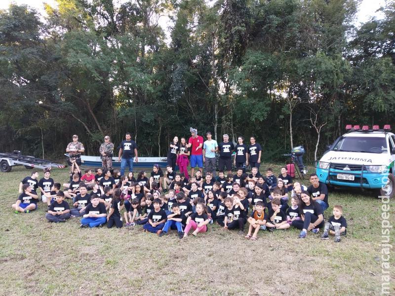 PMA realiza Educação Ambiental para 70 alunos por três dias em colônia de férias