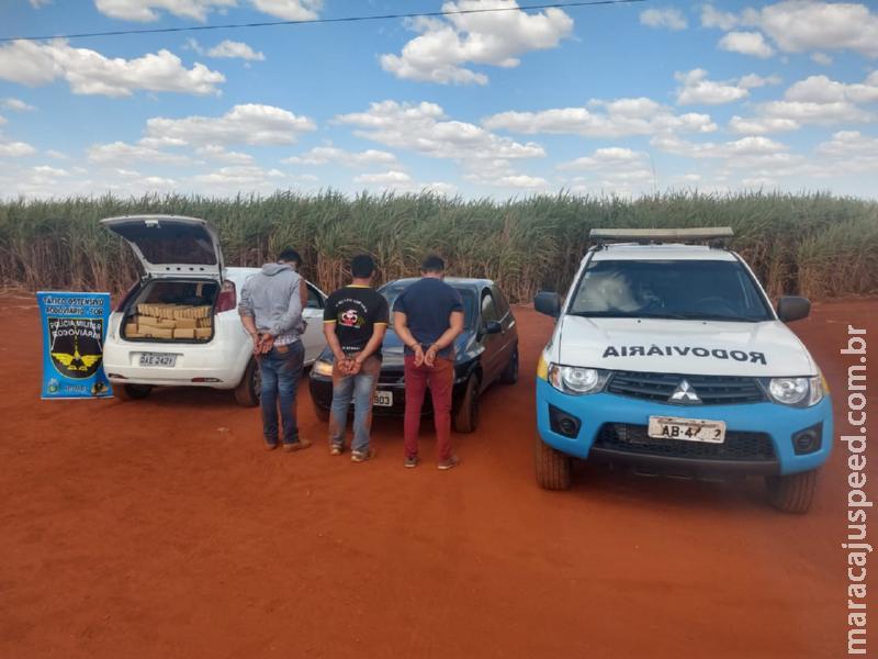 Sidrolândia: PMRv recupera veículo roubado em MG carregado com quase meia tonelada de maconha na MS-162
