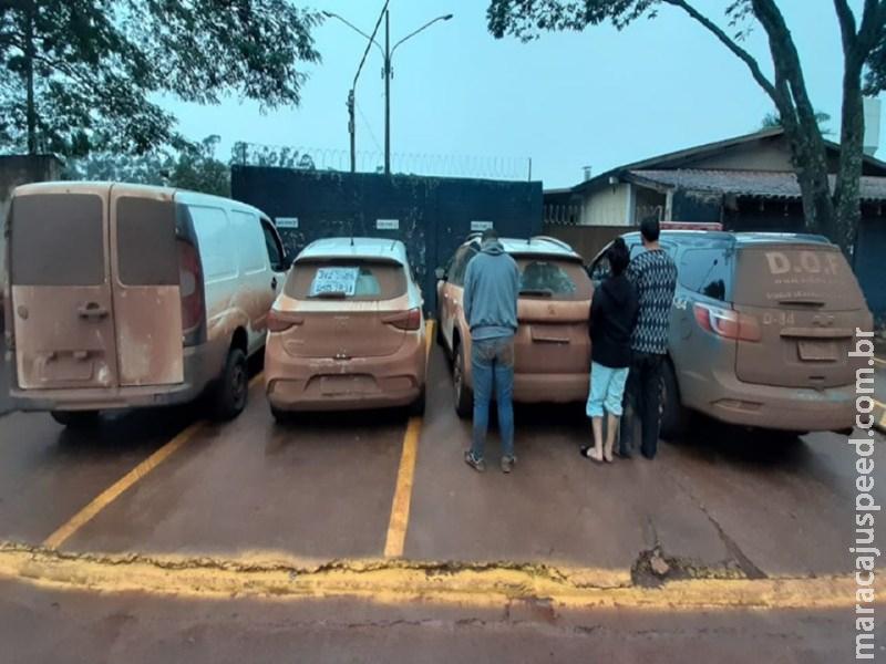 Veículos furtados que seriam trocados por droga no Paraguai foram apreendidos pelo DOF na região de Maracaju