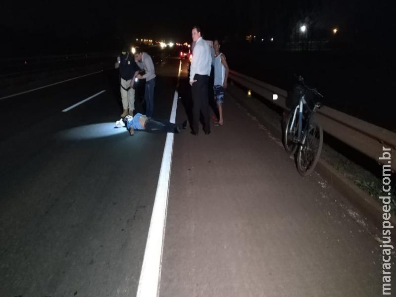 Colisão entre duas bicicletas deixa um morto e um ferido