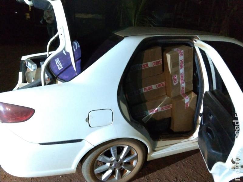 Homem contrata táxi para levar cigarros contrabandeados até Maracaju