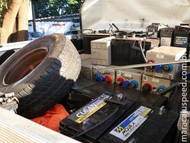 Ladrões não poupam nem polícia e furtam bateria de viatura do Garras