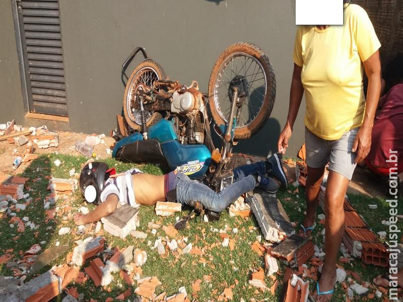Maracaju: Condutor de motocicleta colidi contra muro e morre no local