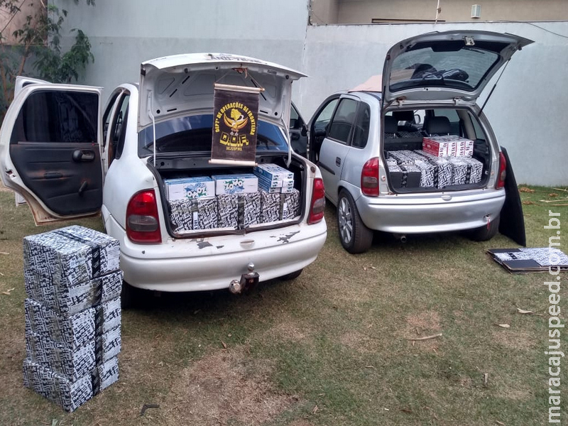 Maracaju: Veículos carregados com produtos contrabandeadas do Paraguai foram apreendidos pelo DOF