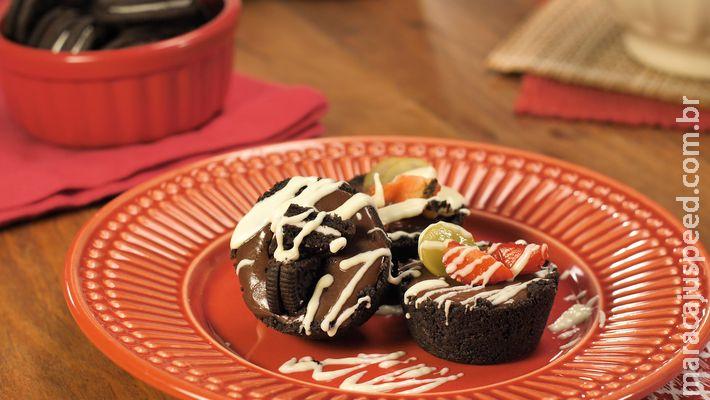 Mini torta de Oreo é sobremesa que não vai ao forno