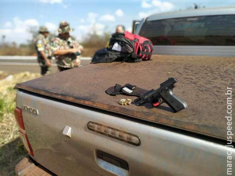 Paulista é preso com pistola e munições ilegais