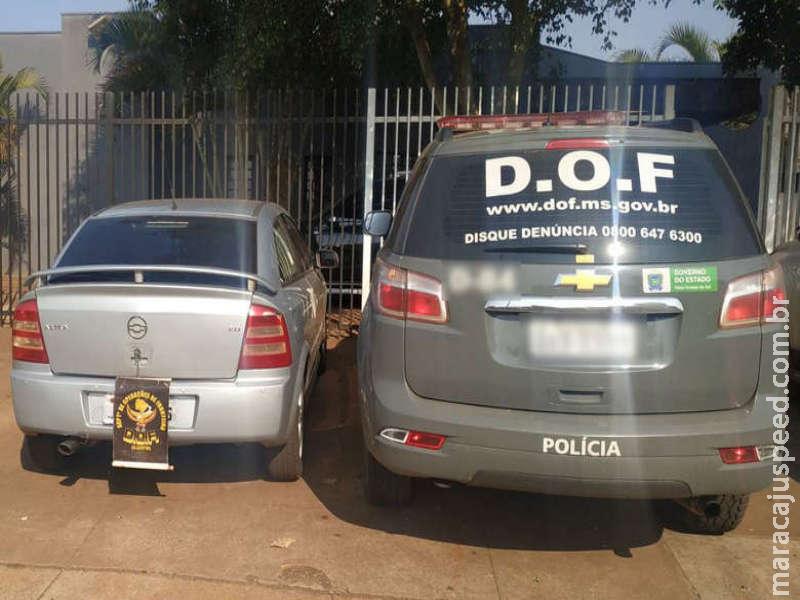 Veículo com sinais de identificação adulterados é apreendido pela polícia