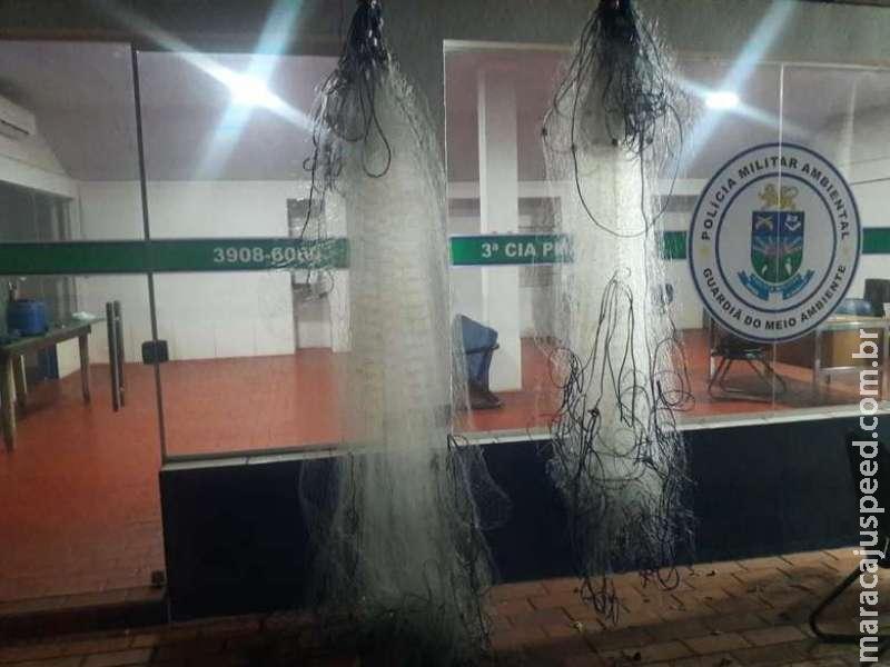 Ambiental flagra pescadores com redes durante operação