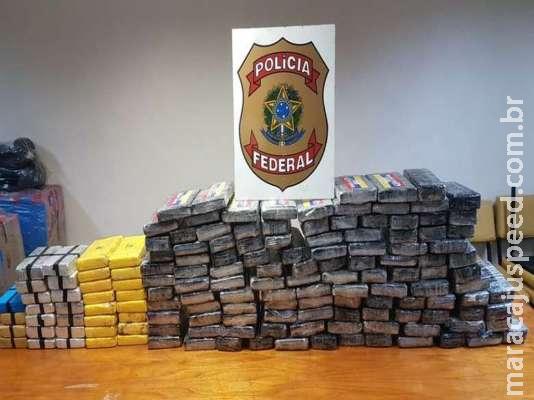 Apreensões de cocaína por federais dobram em Mato Grosso do Sul