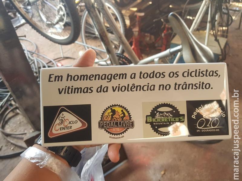 Ciclistas de Dourados farão ato em homenagem às vítimas de violência no trânsito