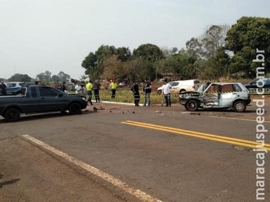 Colisão entre Uno e Fiat Strada deixa homem morto na BR-376