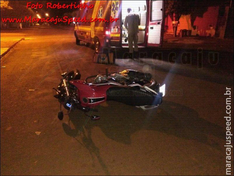 Maracaju: Corpo de Bombeiros atendem ocorrência durante a madrugada de domingo de queda de motocicleta na Vila Moreninha
