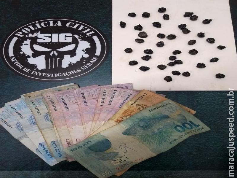 Maracaju: Polícia Civil prende em flagrante traficante de drogas que atuava na Vila Juquita