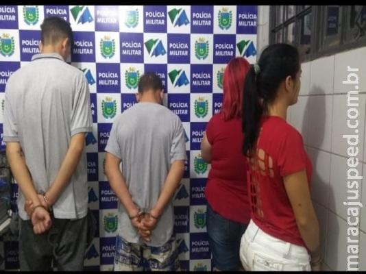 PM desarticula boca de fumo e quatro são presos