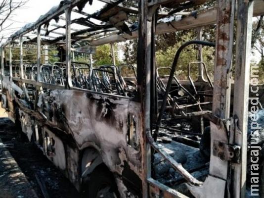Preso homem que colocou fogo em ônibus e caminhonete em MS