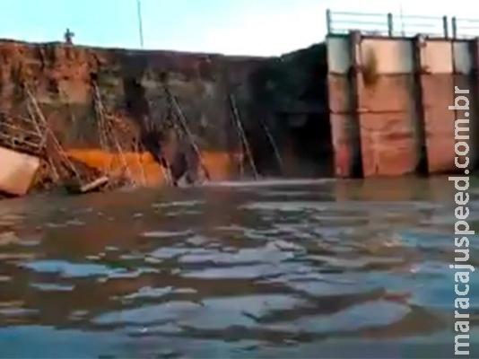 Desmoronamento de barragem avança e obra é discutida