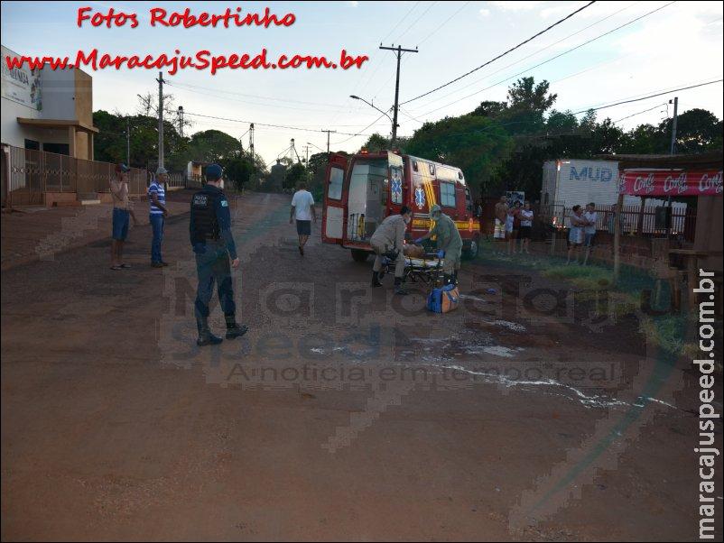 Maracaju: Homem estava transtornado e gritava que tinha que matar alguém, e investiu contra policiais militares