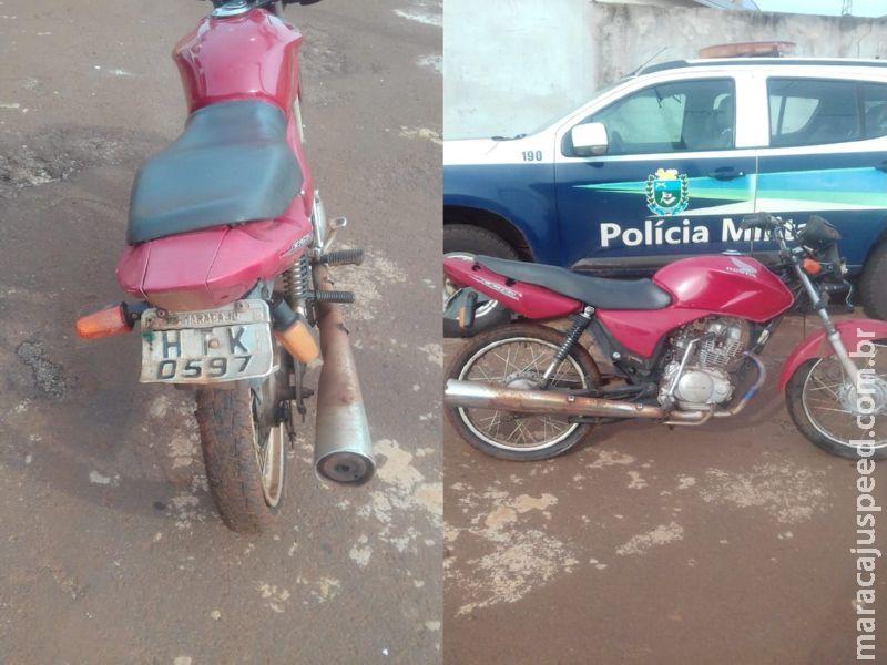 Maracaju: Polícia Militar recupera motocicleta furtada na última quarta-feira