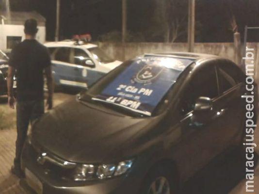 Polícia apreende veículo com identificadores adulterados e preparado para o transporte de entorpecente