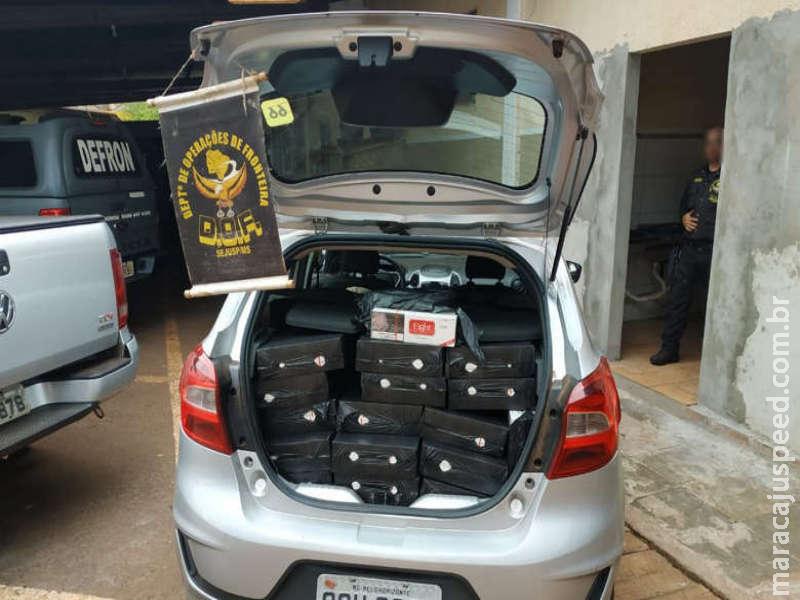 Veículos abarrotados com contrabando são apreendidos
