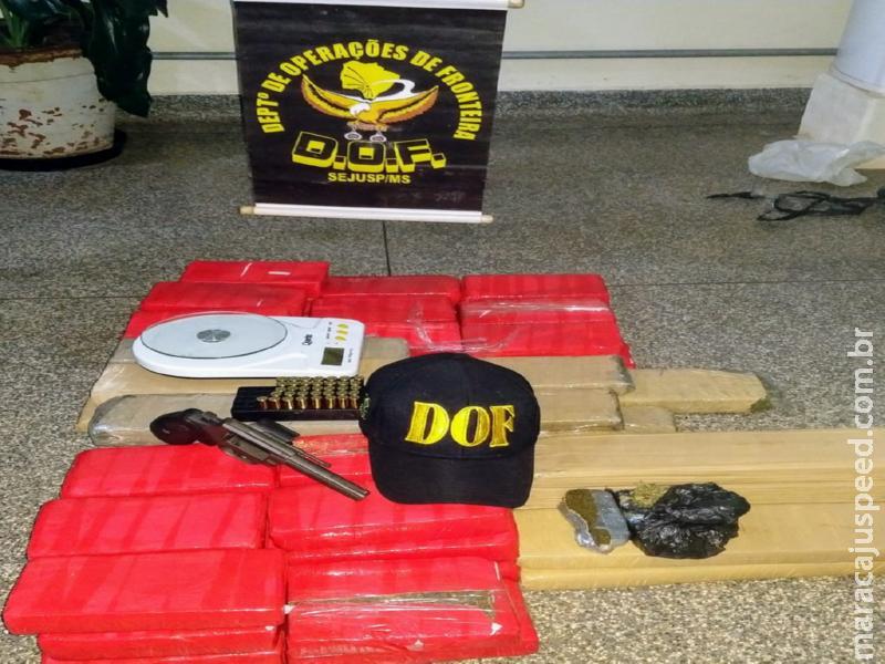 Policiais do DOF apreendem droga, armas e munições que seguiam para Cuiabá, na região de Maracaju