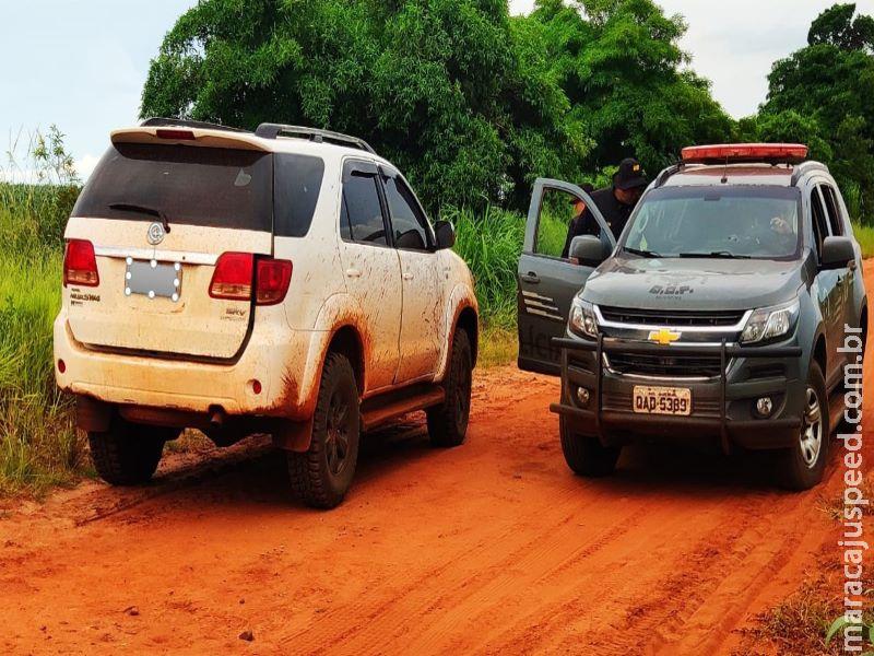 DOF recupera veículo roubado em assalto onde família foi feita refém