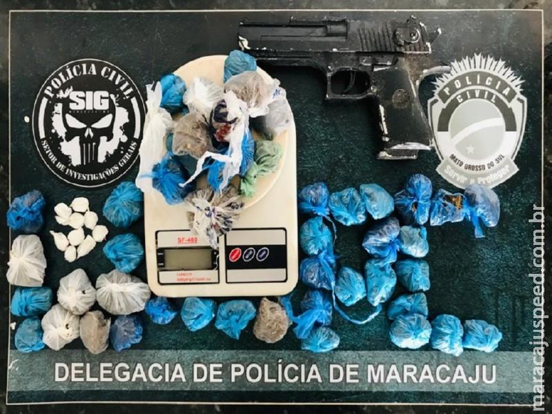 Maracaju: Polícia Civil cumpre mandados de busca e apreende drogas e simulacro de arma de fogo no Conjunto Olídia Rocha