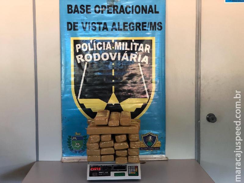 Maracaju: Polícia Militar Rodoviária prende mulher que levaria droga até o MT