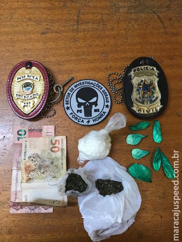 SIG fecha boca de fumo, prende traficante e captura mulher foragida da justiça