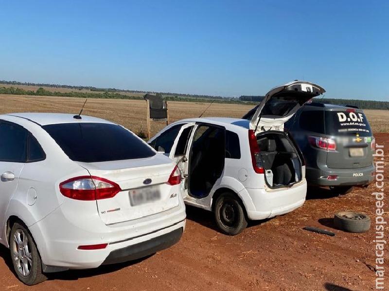 Maracaju: Ford Fiesta com mais de cem quilos de maconha foi apreendido pelo DOF durante a Operação Hórus